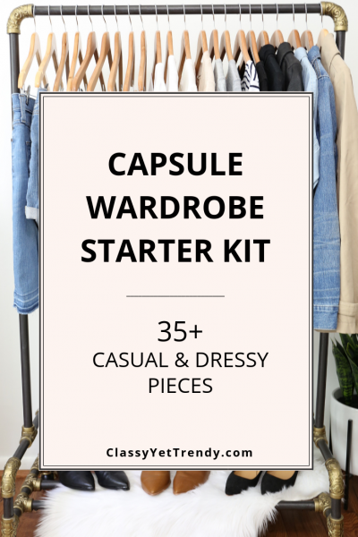 Capsule Wardrobe Starter Kit - 35+ Casual Dressy Pieces