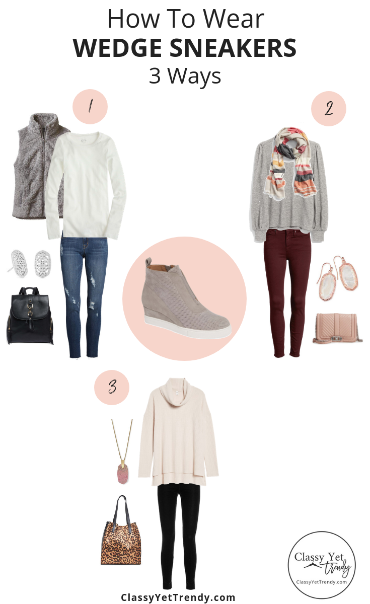 4ca46a5f28a4 How To Wear Wedge Sneakers 3 Ways - Classy Yet Trendy