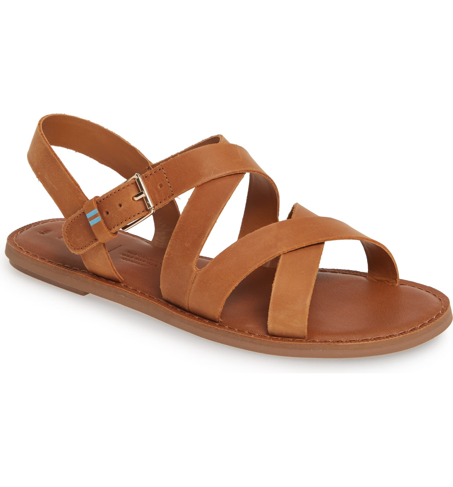 toms brown strap sandals
