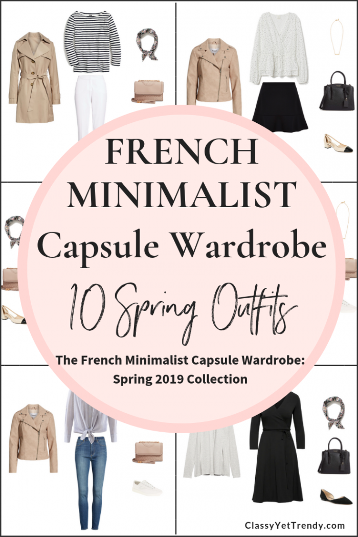 French Minimalist Spring 2019 Capsule Wardrobe Preview: 10 Outfits