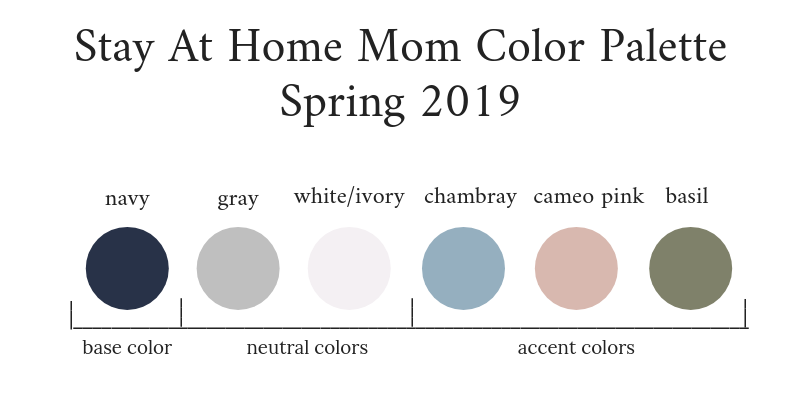 Stay At Home Mom Capsule Wardrobe Spring 2019 Color Palette