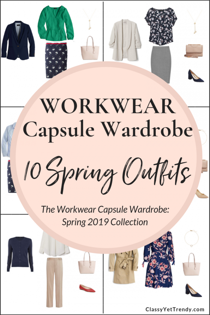 The Workwear Spring 2019 Capsule Wardrobe Preview + 10 Outfits