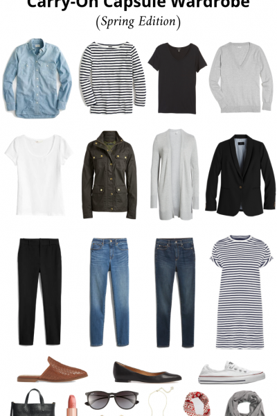 How To Create A Carry-On Capsule Wardrobe - Spring