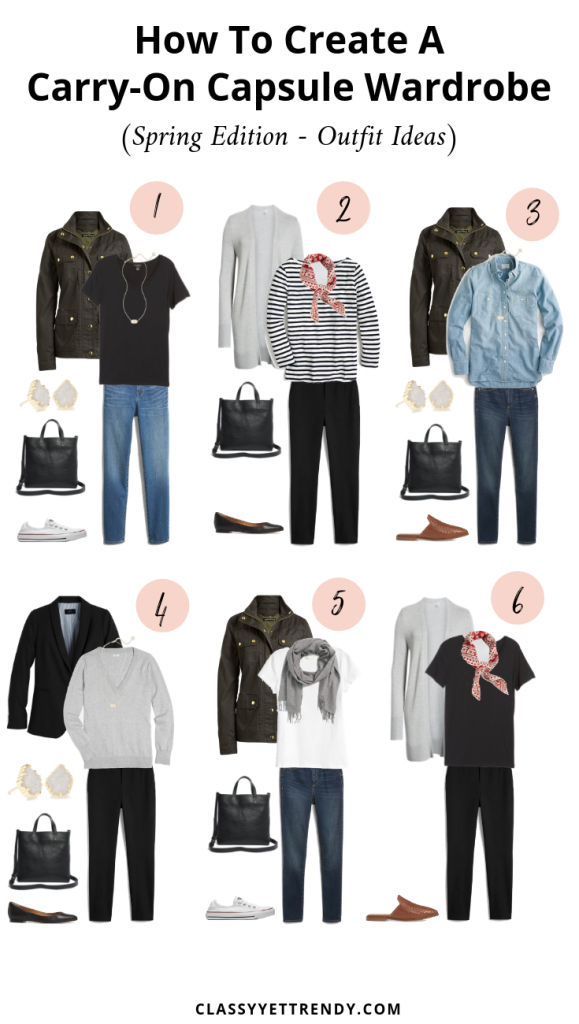 How To Create A Carry-On Capsule Wardrobe - Spring - Outfit Ideas