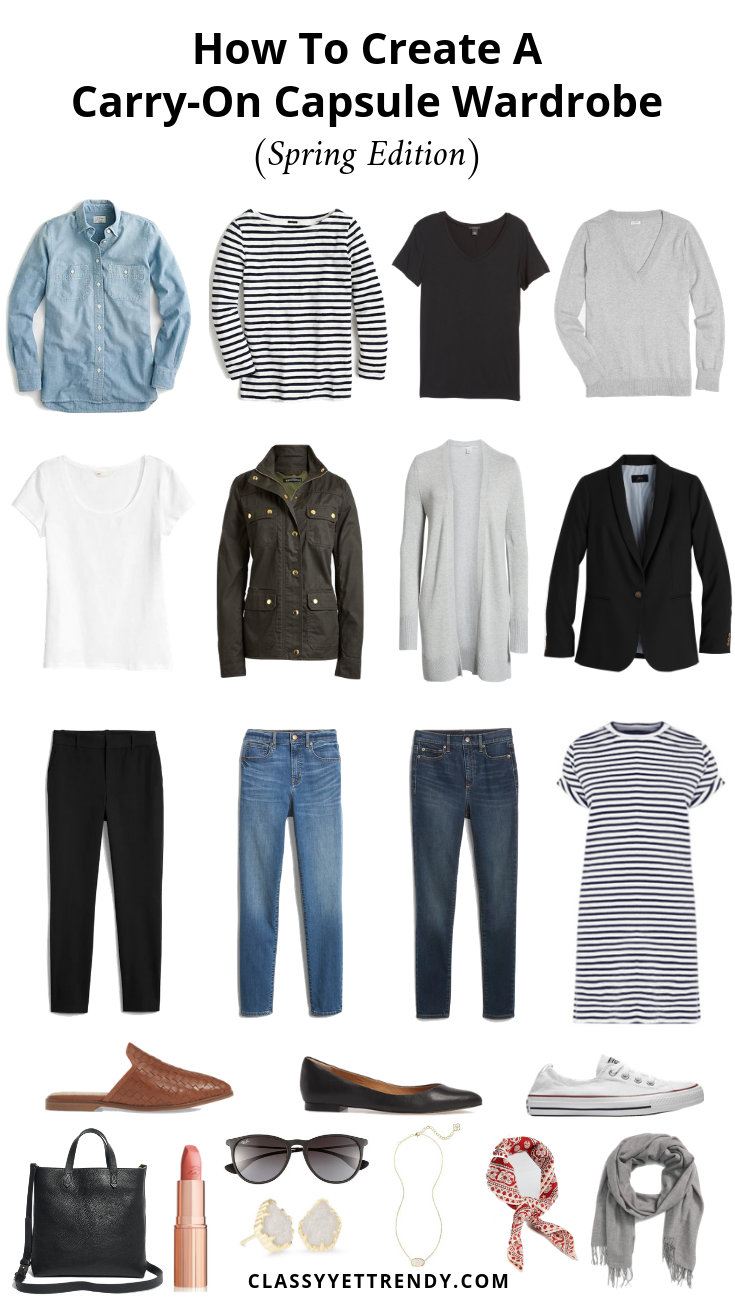 How To Create A Carry-On Capsule Wardrobe (Spring Edition