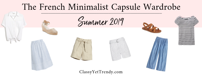 The French Minimalist Capsule Wardrobe Summer 2019