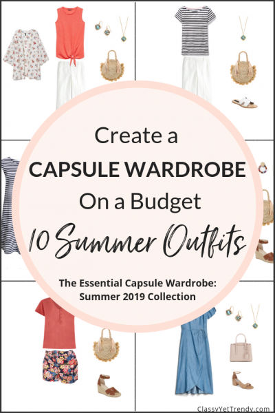 Essential Capsule Wardrobe Summer 2019 Preview - 10 Outfits