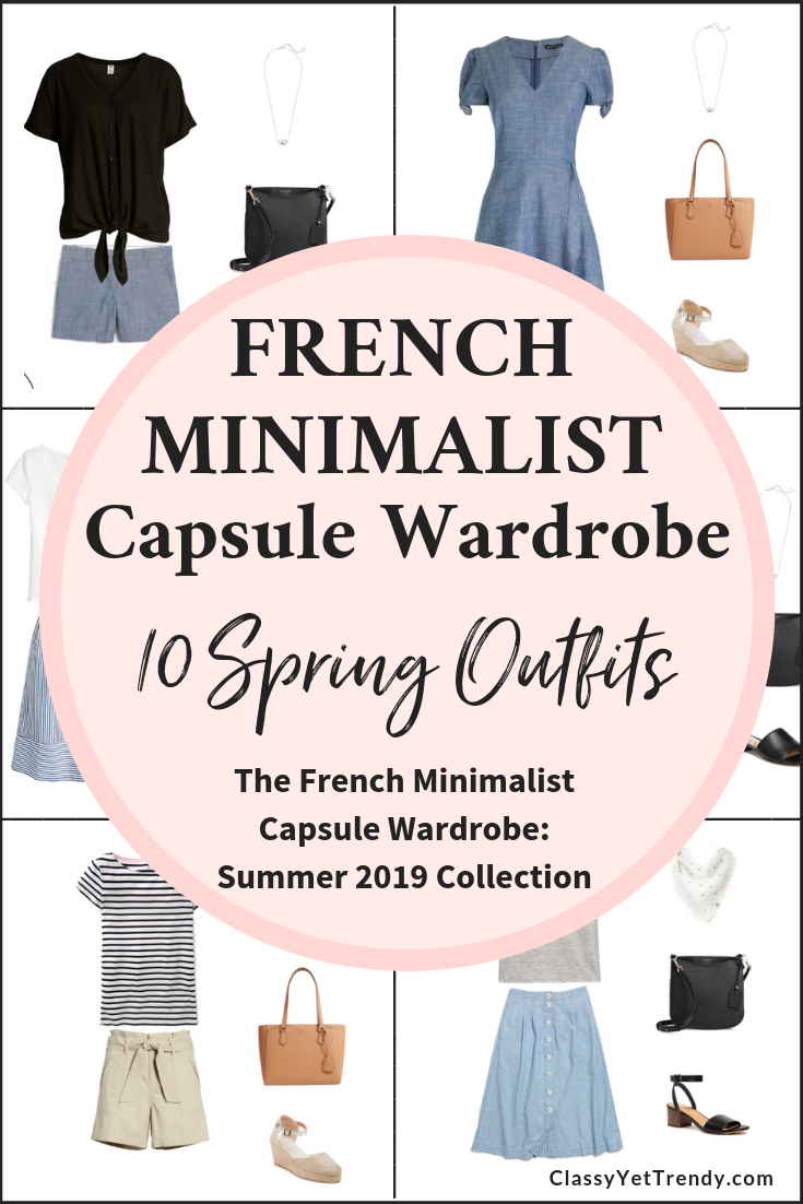 French Minimalist Capsule Wardrobe Summer 2019 Preview + 10 Outfits