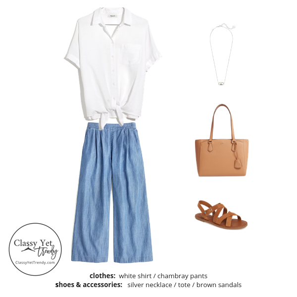 French Minimalist Capsule Wardrobe Summer 2019 - outfit 3