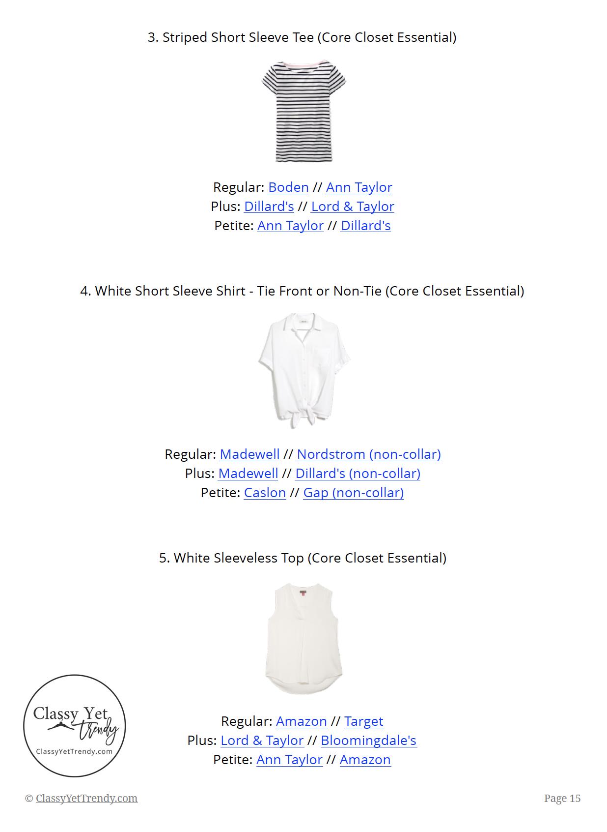 French Minimalist Capsule Wardrobe Summer 2019 - page 15
