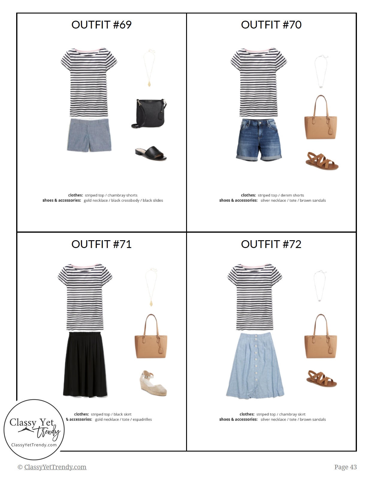 French Minimalist Capsule Wardrobe Summer 2019 - page 43