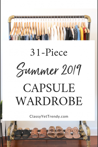My 31-Piece Summer 2019 Capsule Wardrobe - in my Closet - clothes and shoes