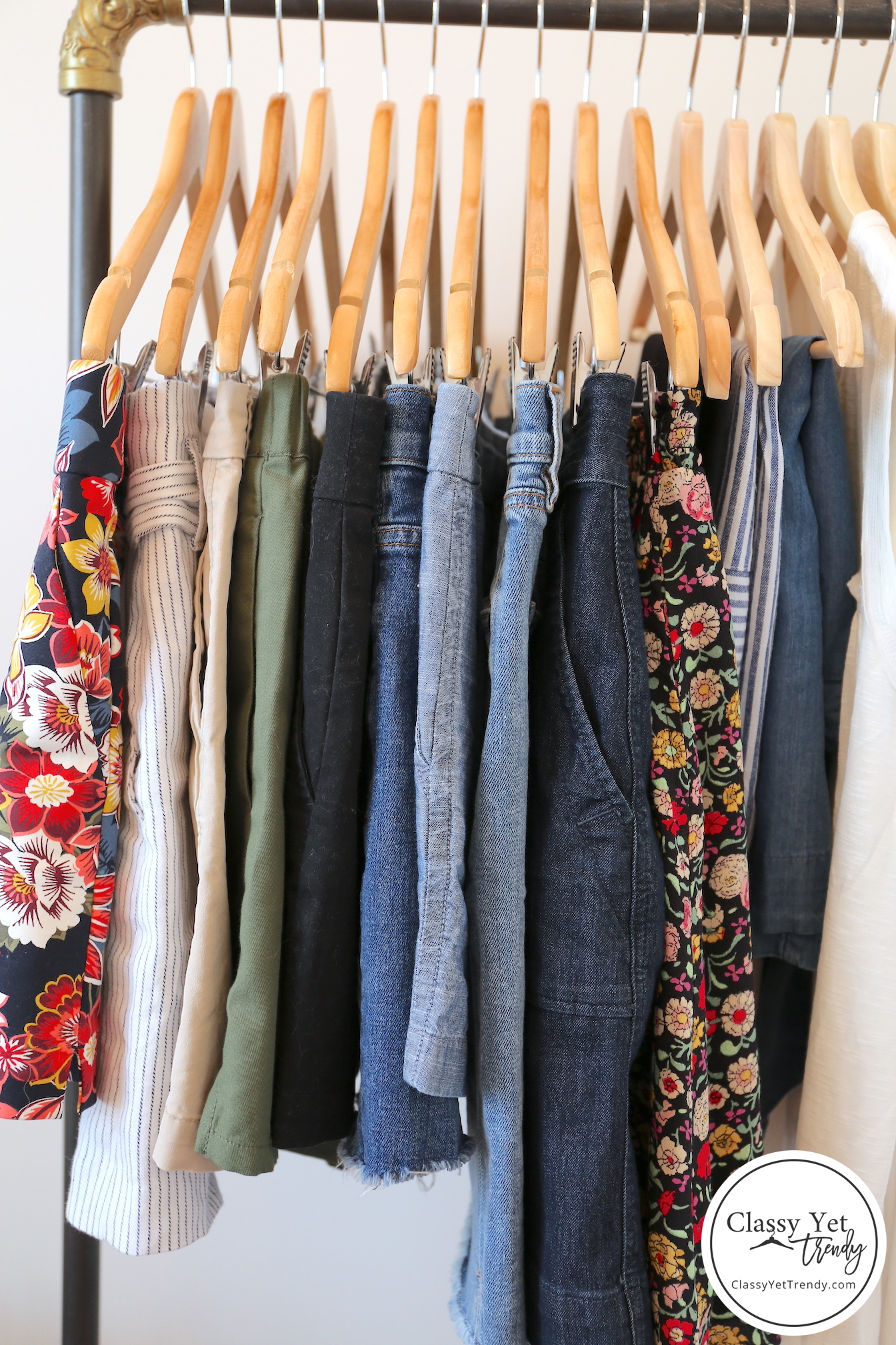 My 31-piece Summer 2019 Capsule Wardrobe - Bottoms