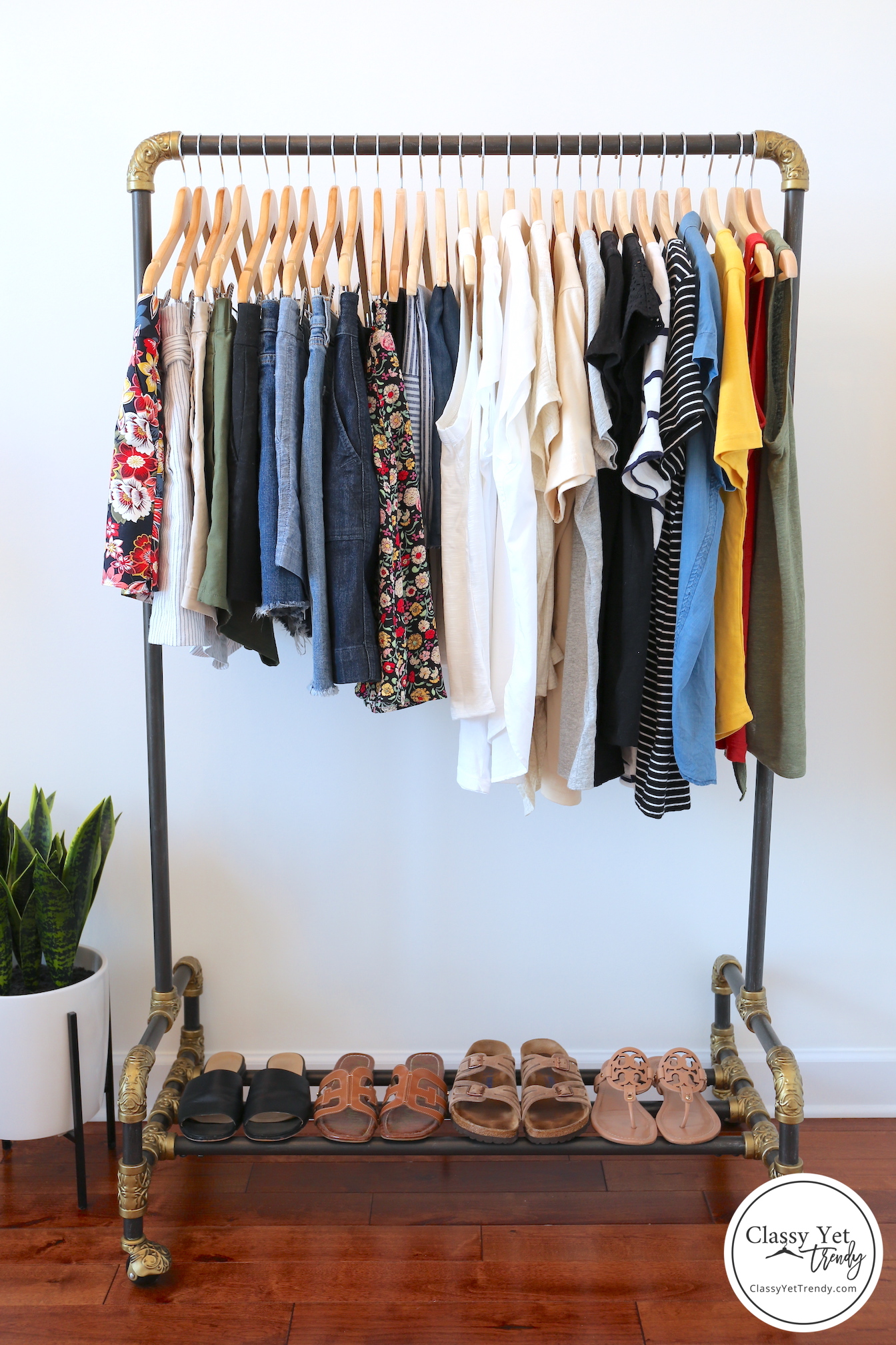 My 31-piece Summer 2019 Capsule Wardrobe - clothes rack