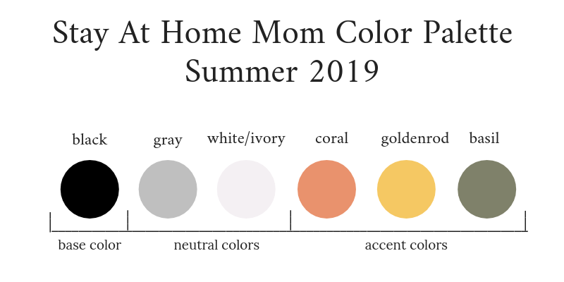 Stay At Home Mom Capsule Wardrobe Summer 2019 Color Palette