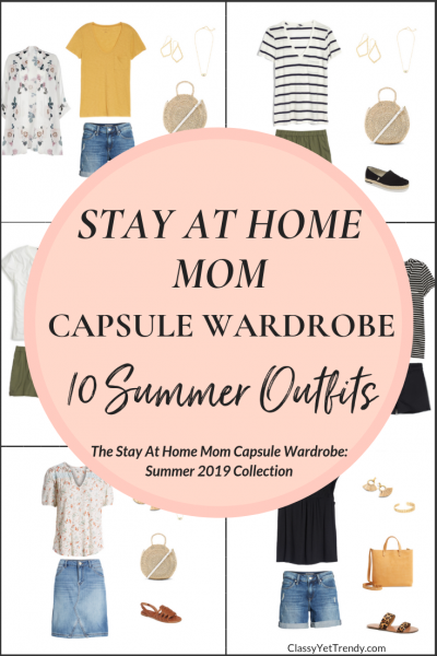 Stay At Home Mom Capsule Wardrobe Summer 2019 Preview - 10 Outfits