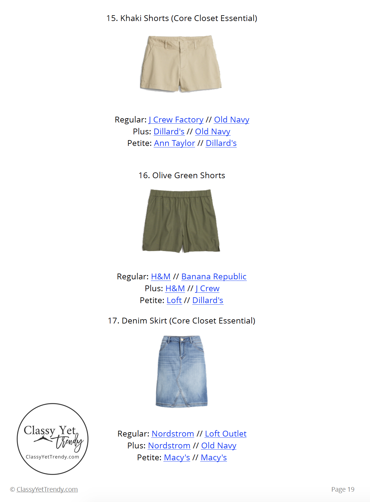 Stay At Home Mom Capsule Wardrobe Summer 2019 - page 19