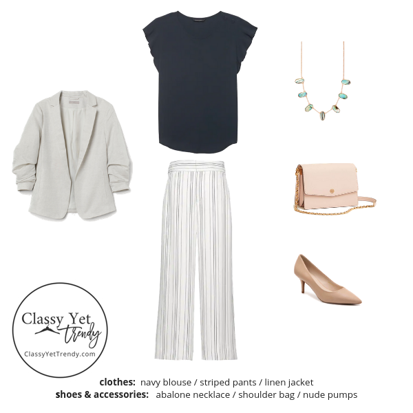 Workwear Capsule Wardrobe Summer 2019 - outfit 12