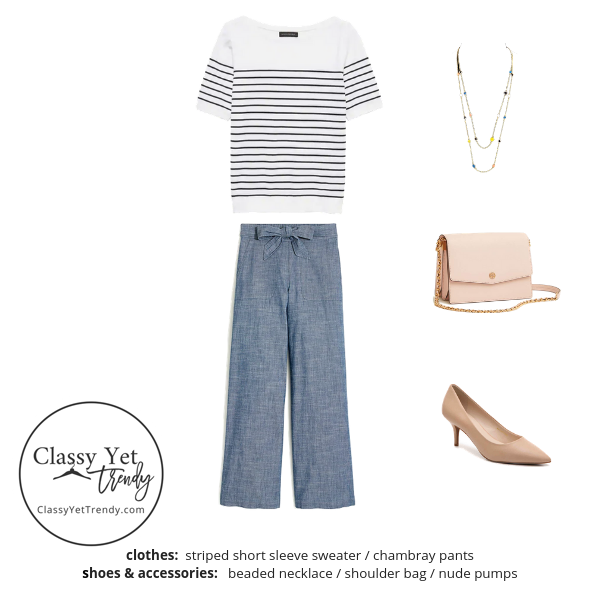 Workwear Capsule Wardrobe Summer 2019 - outfit 34