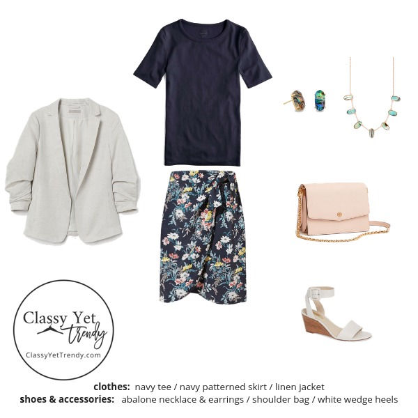 Workwear Capsule Wardrobe Summer 2019 - outfit 74