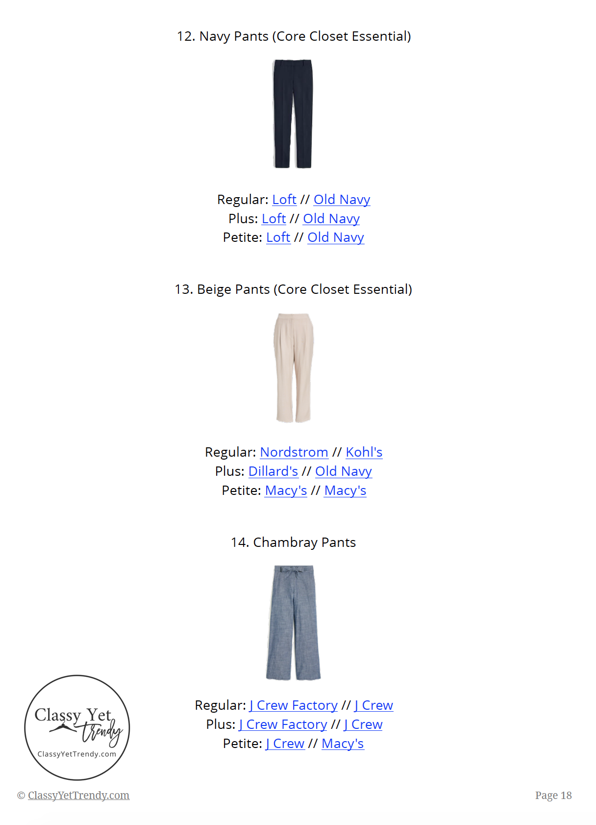 Workwear Capsule Wardrobe Summer 2019 - page 18
