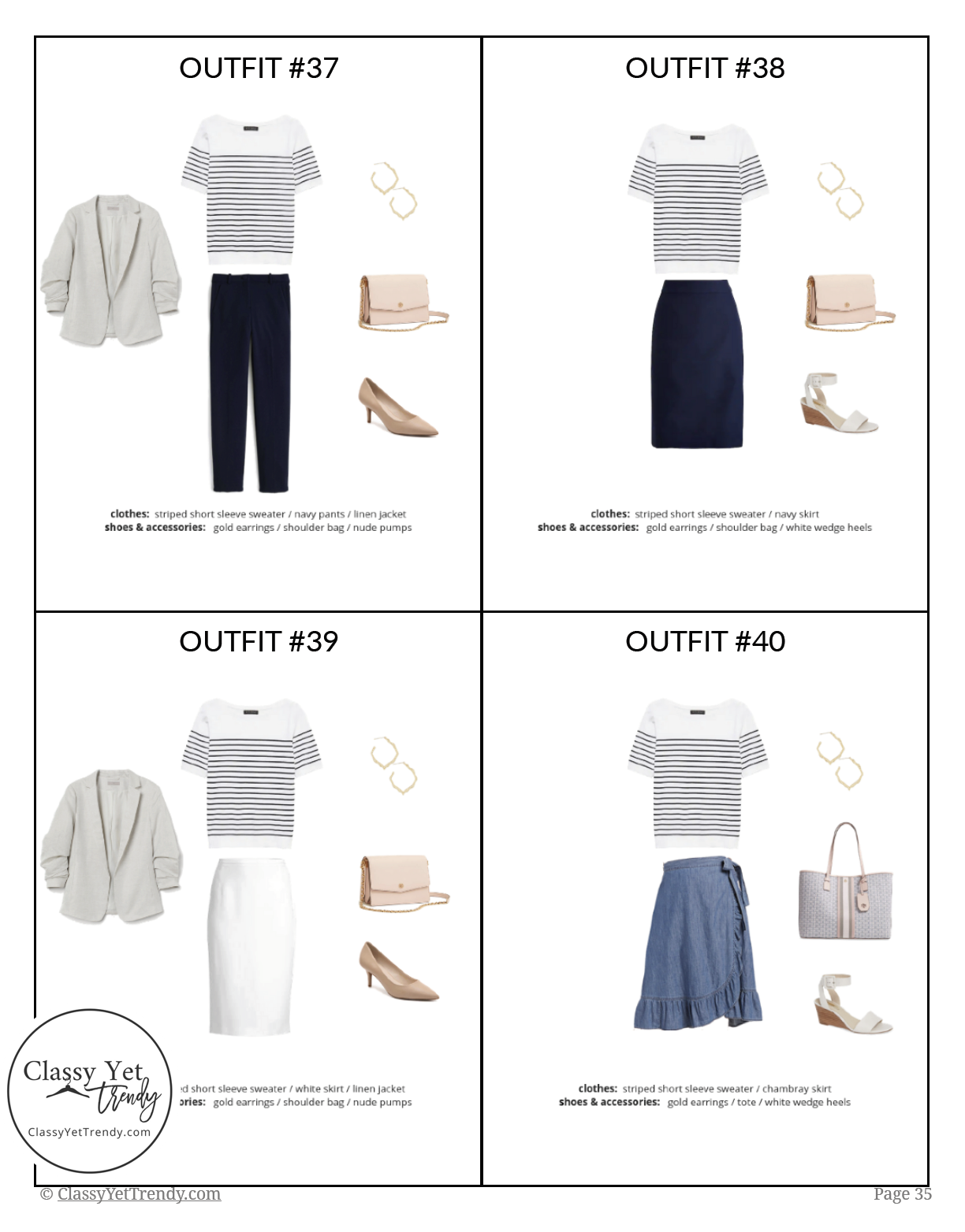 Workwear Capsule Wardrobe Summer 2019 - page 35