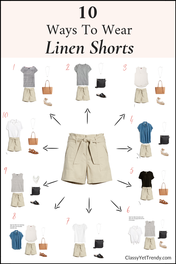 10 Ways To Wear Linen Shorts