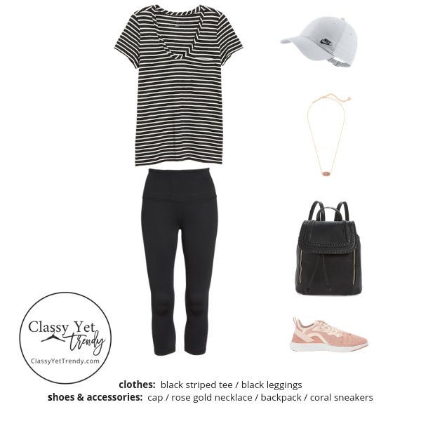 Athleisure Capsule Wardrobe Summer 2019 - outfit 21