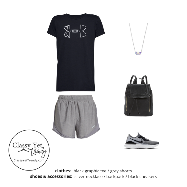 Athleisure Capsule Wardrobe Summer 2019 - outfit 3