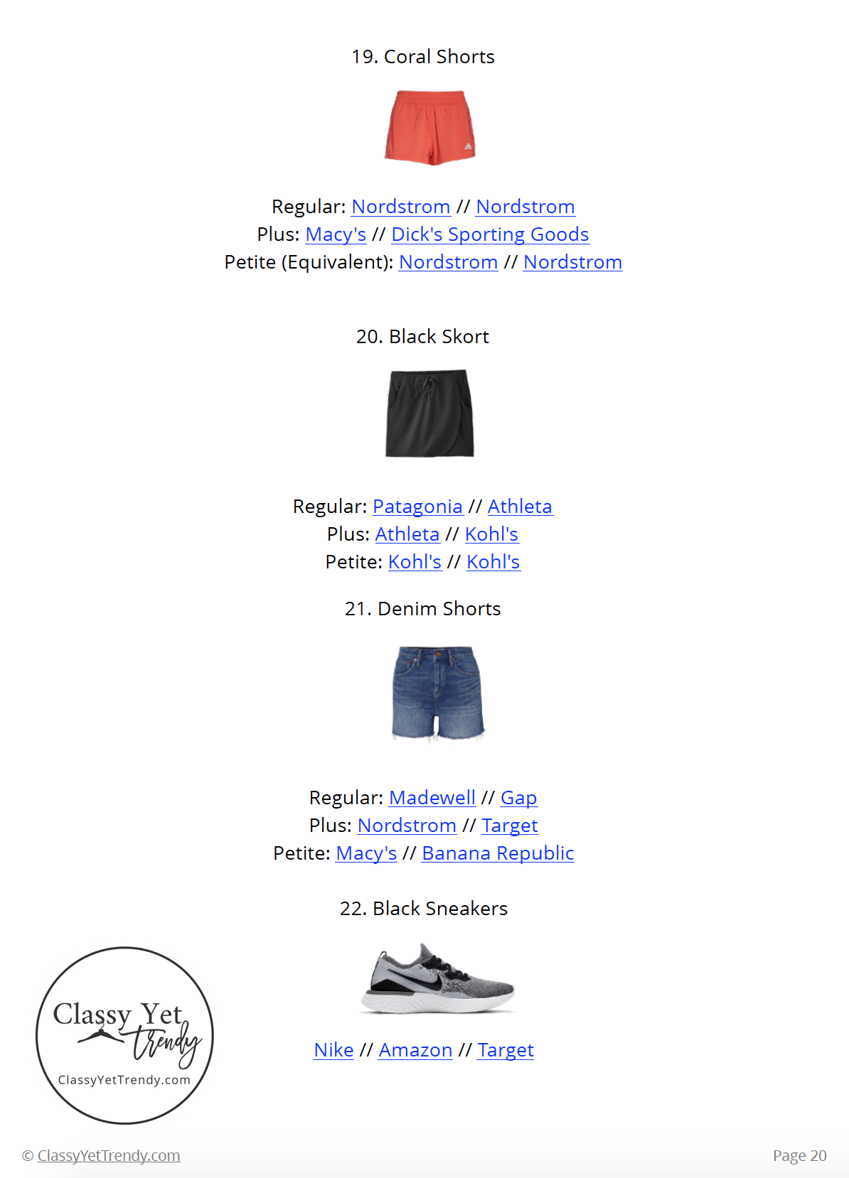 Athleisure Capsule Wardrobe Summer 2019 - page 20