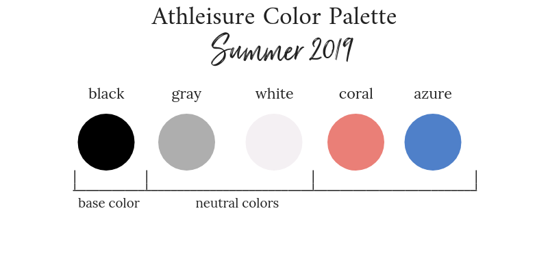 Athleisure Summer 2019 Color Palette