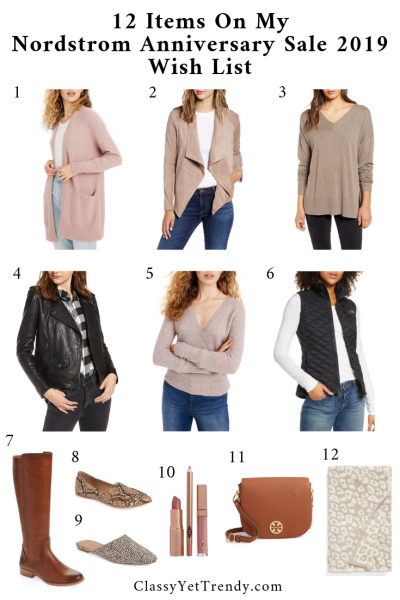 Items On My Nordstrom Anniversary Sale 2019 Wish List - Essentials and Trends