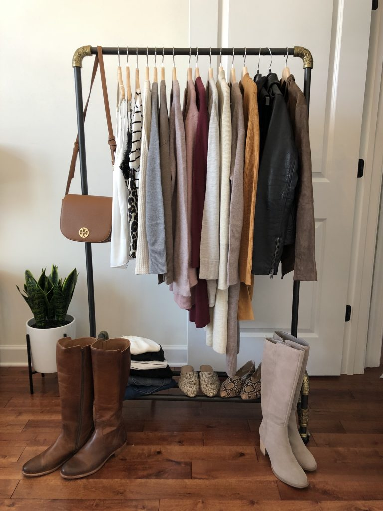 Nordstrom Anniversary Sale 2019 Try-On Session - top, sweater, cardigan, jacket, jeans and shoes on clothes rack