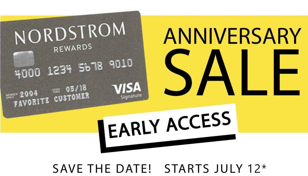 Nordstrom Anniversary Sale 2019 card banner