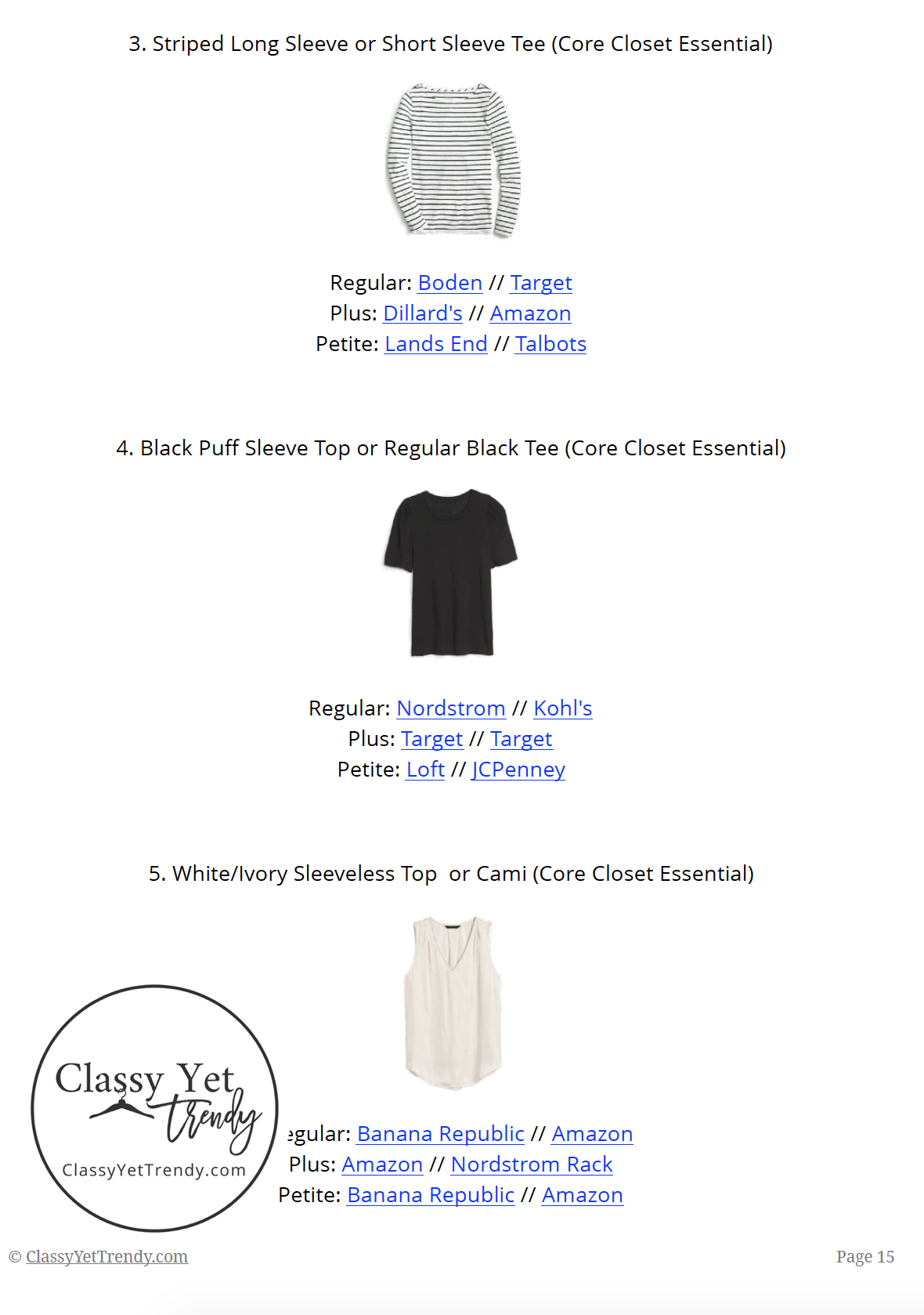French Minimalist Capsule Wardrobe Fall 2019 - page15