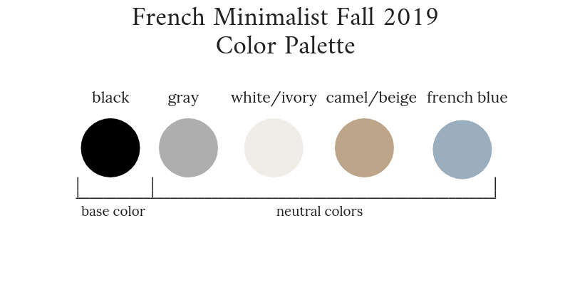 French Minimalist Fall 2019 Color Palette