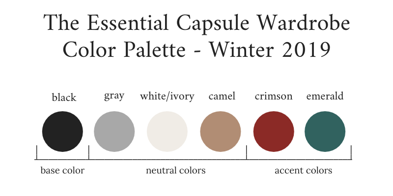 Essential-Capsule-Wardrobe-Winter-2019-Color-Palette