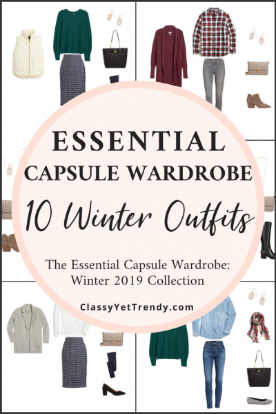 Essential Capsule Wardrobe Winter 2019 Preview - 10 Outfits PIN1