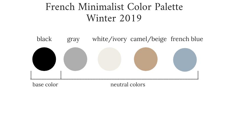 French Minimalist Winter 2019 Color Palette