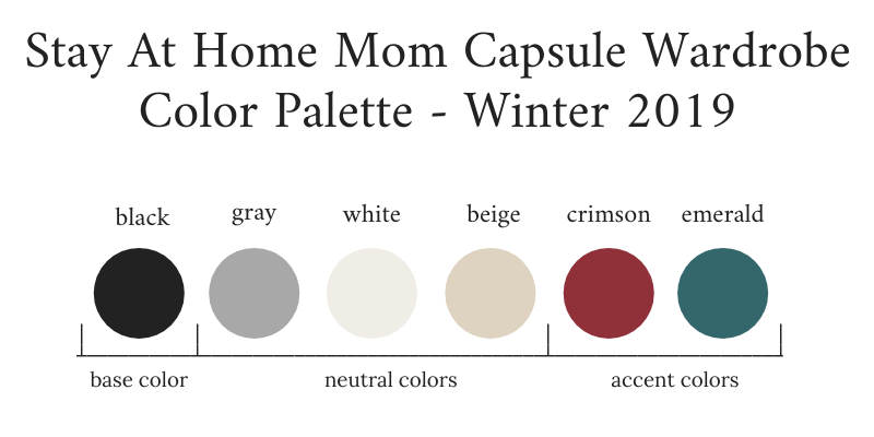 Stay-At-Home-Mom-Capsule-Wardrobe-Winter-2019-Color-Palette