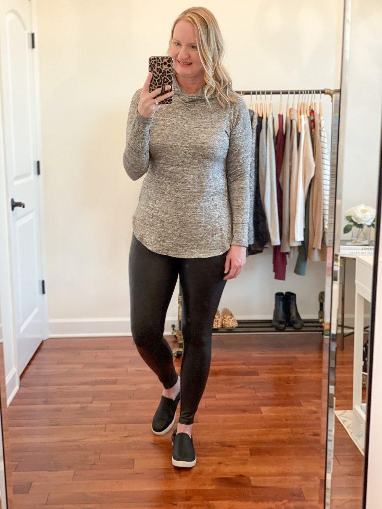 6-Ways-To-Wear-Faux-Leather-Leggings-pullover-hoodie-slip-on-sneakers