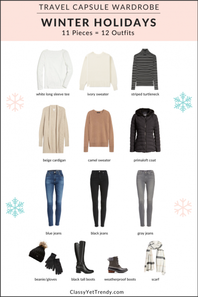 Winter-Holidays-Travel-Capsule-Wardrobe-11-Pieces-12-Outfits