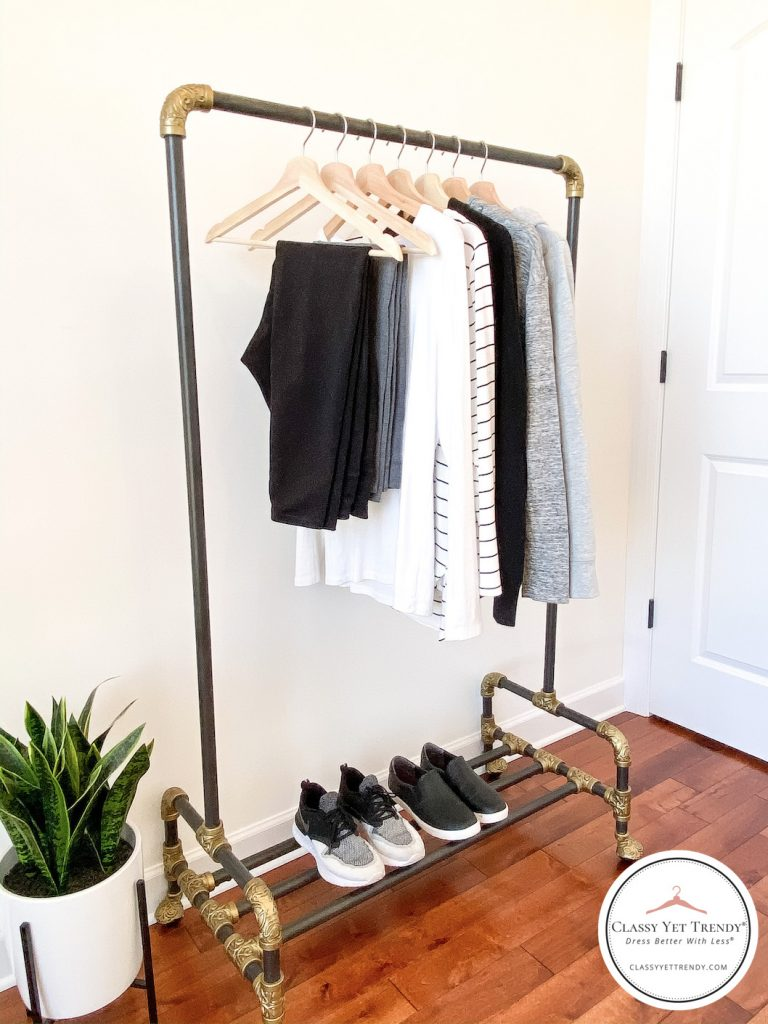 10-Athleisure-Essentials-For-Your-Closet-clothes-rack-side