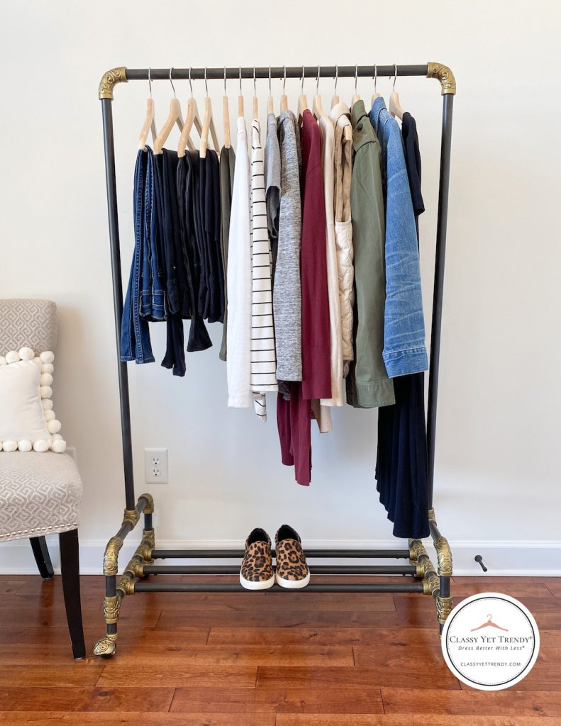 6-Ways-to-Wear-Leopard-Slip-On-Sneakers-clothes-rack-full