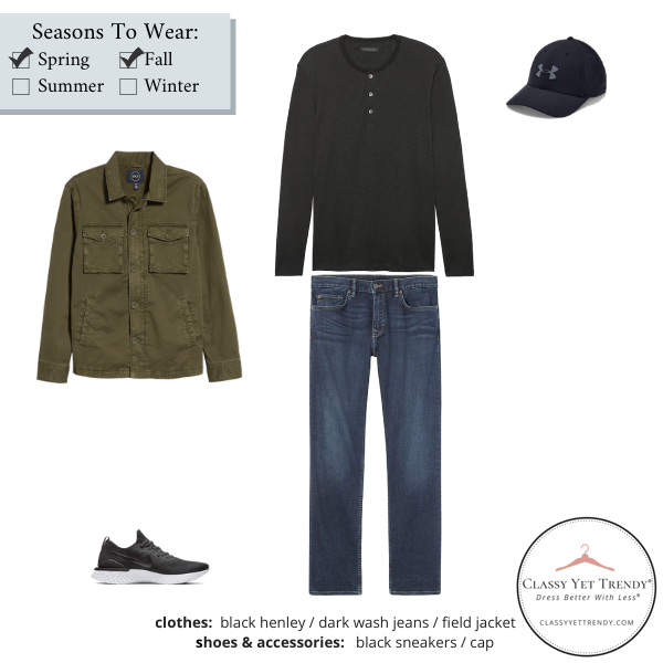 Mens-Simplified-Style-Capsule-Wardrobe-Outfit-BLACK-HENLEY-9
