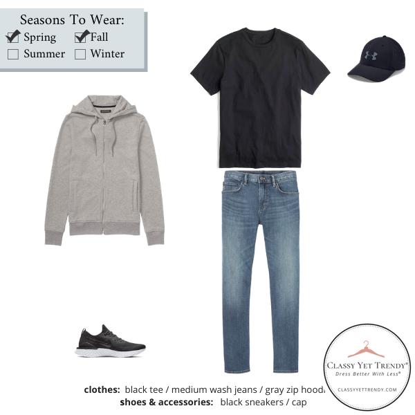 Mens-Simplified-Style-Capsule-Wardrobe-Outfit-BLACK-TEE-1