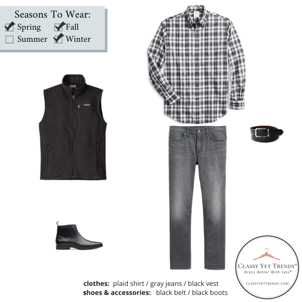 Mens-Simplified-Style-Capsule-Wardrobe-Outfit-PLAID-SHIRT-9