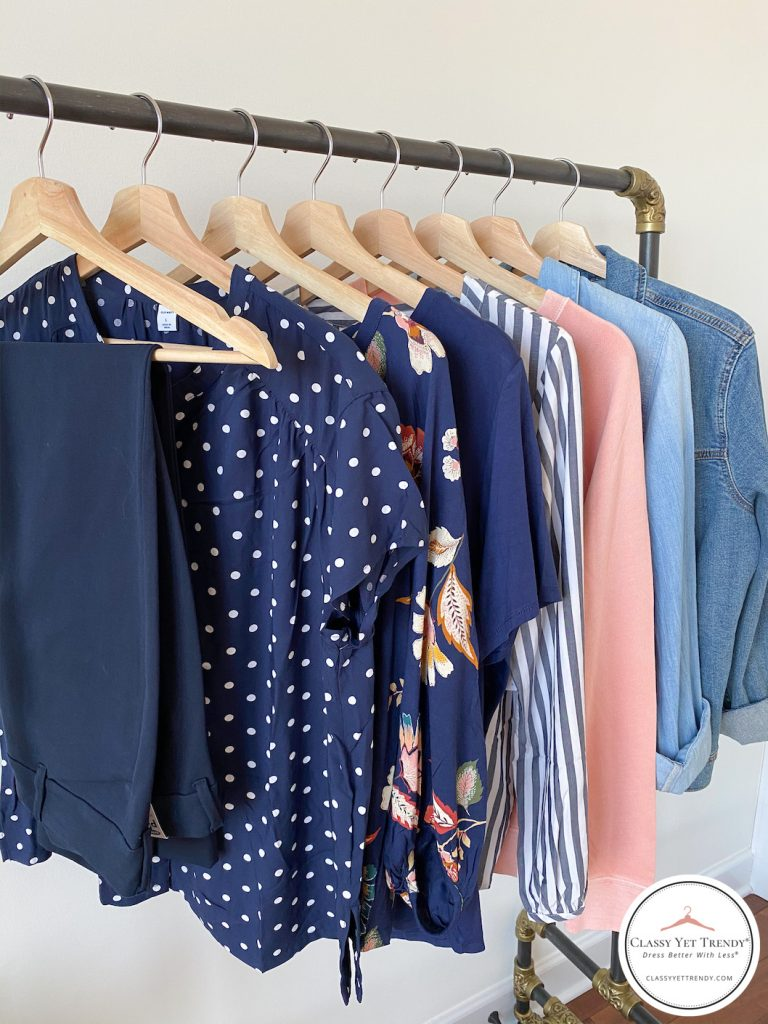 Old-Navy-Try-On-Dressing-Room-Spring-Feb-2020-What-I-Bought-tops-pants-jacket