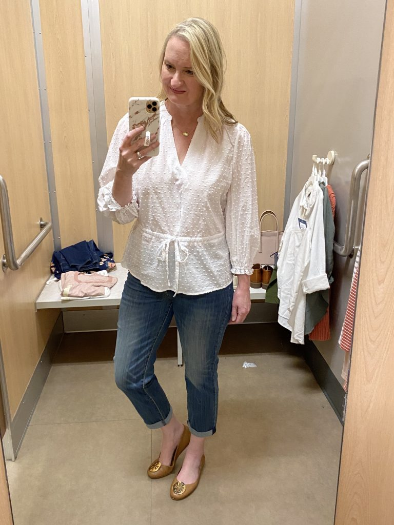 Target-Dressing-Room-Try-On-Feb-2020-1-white-top-slim-jeans