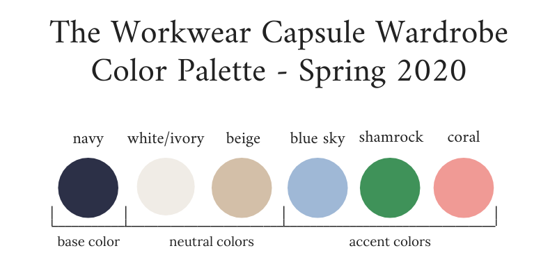 Workwear-Capsule-Wardrobe-Spring-2020-Color-Palette